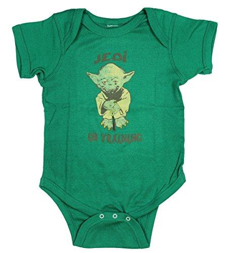 Star Wars Yoda Jedi in Training Infant Bodysuit, Kelly Green, 12 -