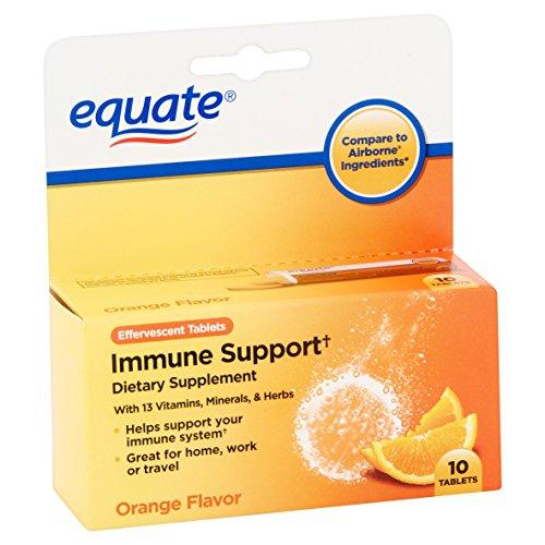 Equate – Immune Support, Orange Flavor, 10 Effervescent Tablets (Compare to Airborne)