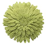 lime green couch Elegant 3D Sunflower Throw Pillow - Round 13 x 13 Decorative Throw Pillow - Lime Green Accent Pillows for Couch, Bedroom And Living Room Decor - Sunflower Decorative Pillows With Case And Insert