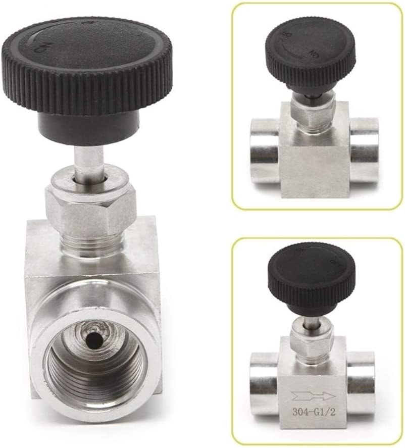 BAIJIAXIUSHANG-TIES Valves Specification : 1//4 Fittings Needle Valve Female Thread 304 Stainless Steel Flow Control Shut Off 915 PSI Needle Valve