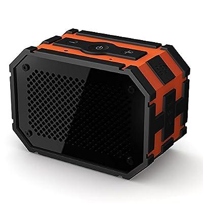 MPOW Armor Bluetooth Portable Indoor/Outdoor Water-Resistant Shockproof Speaker - Retail Packaging - Black