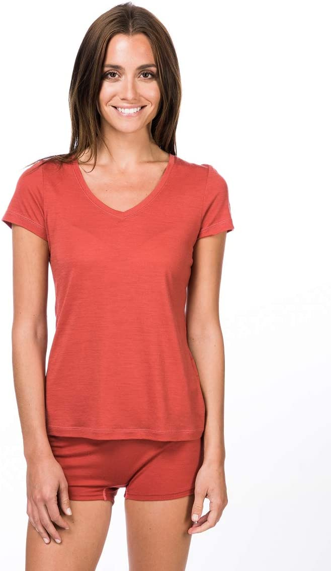 Womens SNW003130 super.natural Womens Base V-Neck 140 Merino T-Shirt