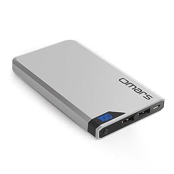 Omars Batería Externa 5000mAh Power Bank Móvil Portátil Cargador para iPhone iPad Samsung y Casi Todos los Móviles: Amazon.es: Electrónica