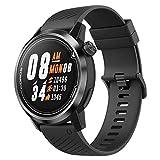COROS APEX Premium Multisport GPS Watch  Ultra-Durable Battery Life  Titanium   Sapphire Glass   HR   Barometer, Altimeter, Compass  ANT+ & BLE Connections  Strava&Training Peaks (Black/Gray, 46mm)