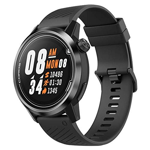 COROS APEX Premium Multisport GPS Watch | Ultra-Durable Battery Life | Titanium | Sapphire Glass | HR | Barometer, Altimeter, Compass | ANT+ & BLE Connections| Strava&Training Peaks (Black/Gray, 46mm)