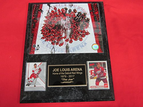Louis Arena Joe - Joe Louis Arena Red Wings FINAL GAME 2 Card Collector Plaque w/8x10 Photo