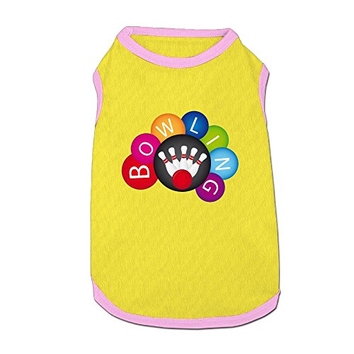 Split Happens Bowling Puppy Dogs Shirts Costume Pets Clothing Warm Vest T-shirt Medium