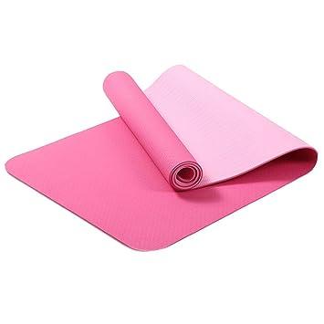HEXIAOPENG - Esterilla de Yoga para Principiantes TPE de 6 ...