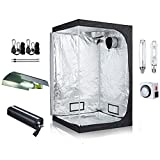 TopoLite 48''x48''x80'' Grow Tent Complete Packages + Grow Light Kit Hydroponics Indoor Growing System (Tent+1000W Grow Light Kit)