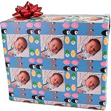 Amazon.com: Papel de regalo personalizado para cumpleaños ...