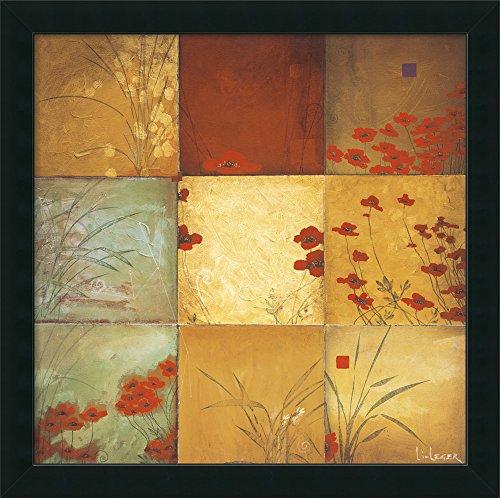Framed Art Print 'Poppy Nine Patch' by Don ()