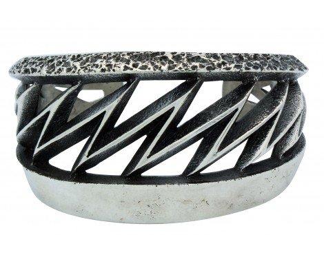 Aaron Anderson, Tufa Bracelet, Lightning, Sterling Silver, Navajo Made, 6.5 in ()