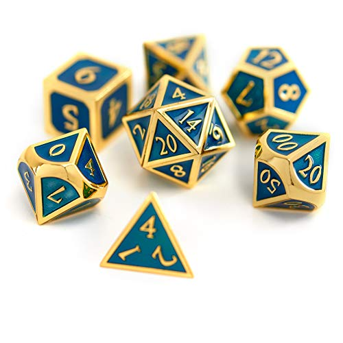 - Suburban Sphinx Metal Dice Set (Launch Edition, Blue/Gold)