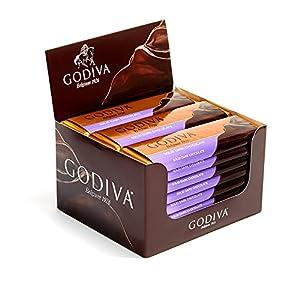 Godiva Chocolatier Small Dark Chocolate Mother's Day Gift Bar, 24 Count