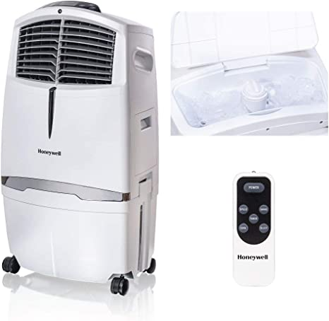 Honeywell 525 790cfm Portable Fan Humidifier With Ice Compartment Remote Cl30xcww White Evaporative Cooler 525 Cfm Home Kitchen