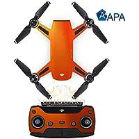 SopiGuard APA Gloss Orange Copper Precision Edge-to-Edge Coverage Vinyl Sticker Skin Controller 3 x Battery Wraps for DJI Spark