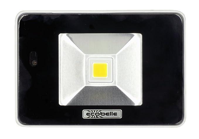 ECOBELLE 1 x Foco Proyector LED 10W con Sensor Microwave de ...