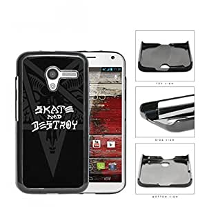 Skate And Destroy Star Beast And Horns Hard Plastic Snap On Cell Phone Case Motorola Moto X