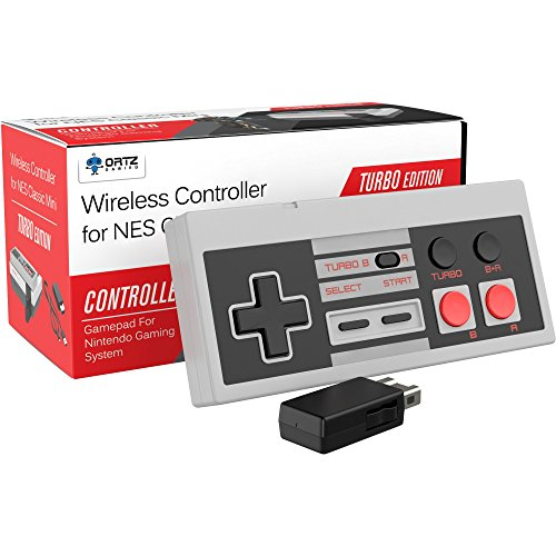Ortz 2.4GHz Wireless Controller for the NES Classic Edition Gaming System - Best Wireless Controller Gamepad For Nintendo Gaming System [Works with Wii U]