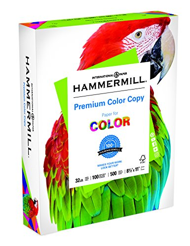 Hammermill Premium Color Copy Paper LETTER 32lb 100-Bright 500-Sheets