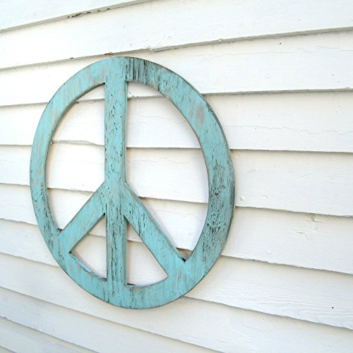 Wooden Peace Sign (24