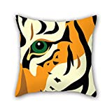 SkuGo leopard throw pillow covers 20 x 20 inches / 50 by 50 cm gift or decor for outdoor,girls,drawing room,car seat,son,chair - each side