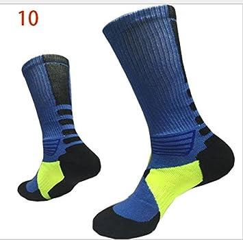 Alamor 3-Pack Calcetines De Baloncesto para Hombres Calcetines con Suela Inferior Calcetines Elite Calcetines Deportivos Al Aire Libre Medias Protectoras ...