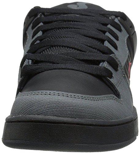 DVS Argon Gris Rojo NegroCuero Hombres Trainers Zapatos Botas