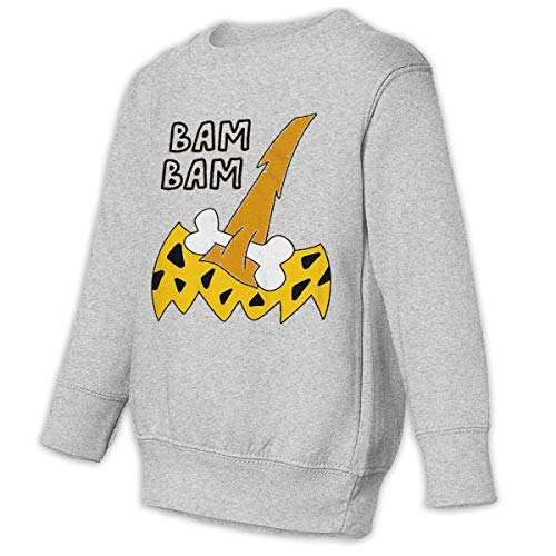 Baby Bam Bam Costume Halloween Funny Family\r\nLovely\r\nSweatshirt Hoodie Gray ()