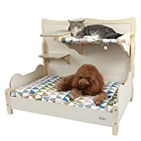 Petsfit Comfortable Bunk Bed for Your Pets with Scratching Pad/Stair/Mat 34