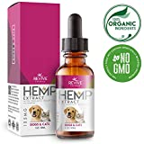 Organic Hemp Oil Extract for Dogs & Cats - 125MG - Helps Relief Joint Pain, Anxiety & Hips Pain for Dog & Cat. Pets Calming Treats. Organic Hemp Extract, Natural Arthritis Supplement.