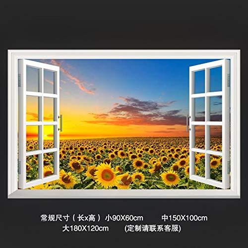 Gefälschte Fenster, Landschaften, dekorative Gemälde, Meerblick, Wald 3D stereoskopische Wandaufkleber, Ingwer Q, groß B07JJX4879 Fantastische Kreaturen Erste Gruppe von Kunden | Guter weltweiter Ruf