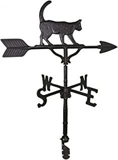 product image for Montague Metal Products 32-Inch Weathervane with Satin Black Cat Ornament