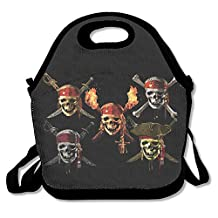 Pirates Of The Caribbean Lunch Bag Lunch Boxes, Waterproof Outdoor Travel Picnic Lunch Box Bag Tote With Zipper And Adjustable Crossbody Strap