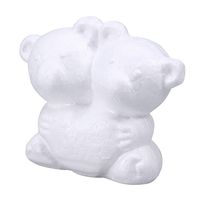 Amosfun Polystyrol B/är Schaum B/är Form f/ür Kinder DIY Handwerk 2 St/ück 15 Wei/ß 10cm