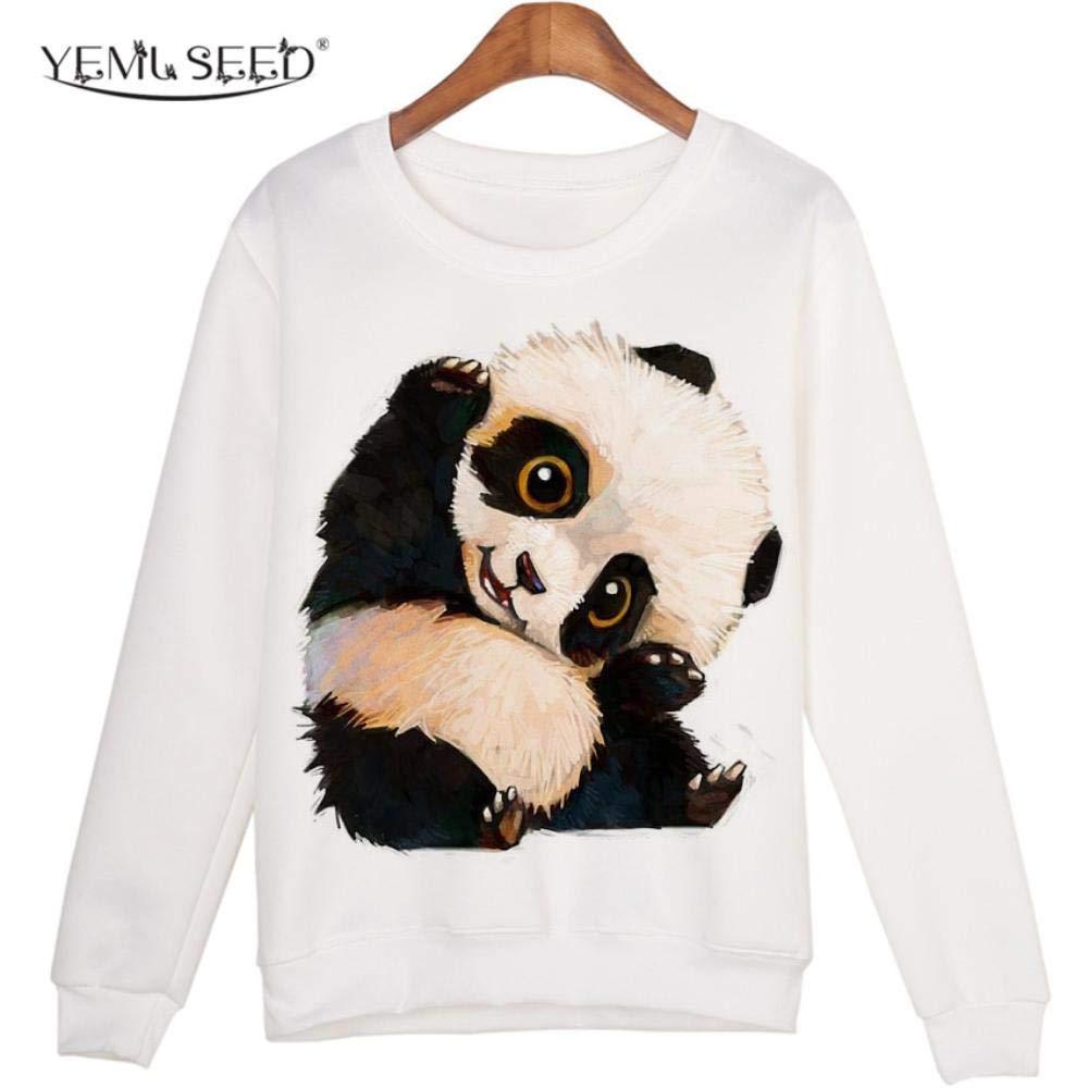 Animal Sweatshirt Sudaderas Mujer Panda Printed Hoodies Kwaii Moleton Pullovers