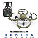 , Review of Kolibri Camera Drone Delta-Recon FPV App Quadcopter Drone with Auto Takeoff and Landing Altitude Hold Headless mode VR Capable iPhone and Android Beginner Drone