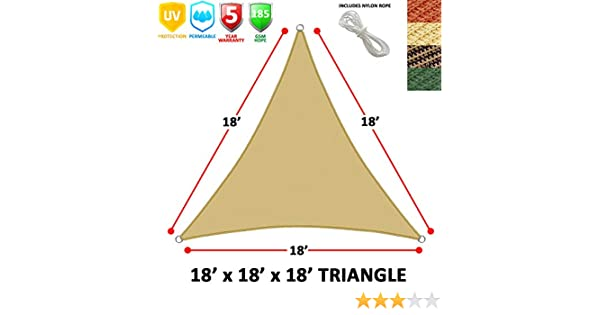 Hogar Moderno Vela de Sombra Triangular (18 Laterales), Color ...