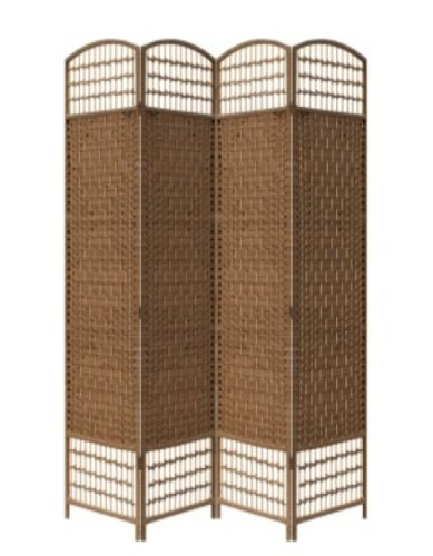 ore-international-fw0676rd-4-panel-screen-room-divider-on-2-inch-leg-brown-paper-straw-weave