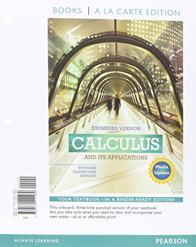 Calculus and Its Applications Expanded Version Media Update Books a la Carte Edition Plus MyLab Math with Pearson eText