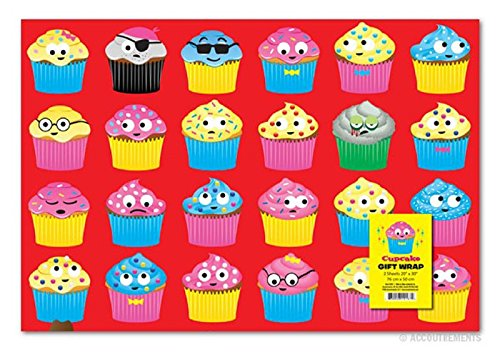 Accoutrements Cupcake Gift Wrap Paper - 2 -