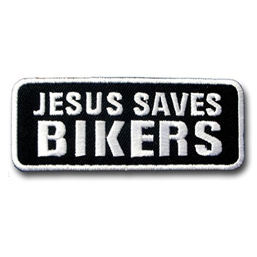 Jesus Saves Bikers Christian Harley Lady Rider Biker Punk Heavy Metal Hard Rock Tatto Embroidered Iron on Badge Emblem Letter Morale (Rock Chicks Costume)