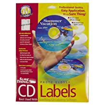 SURETHING CD LABELS REFILLS: GLOSSY (WIN 95,98)
