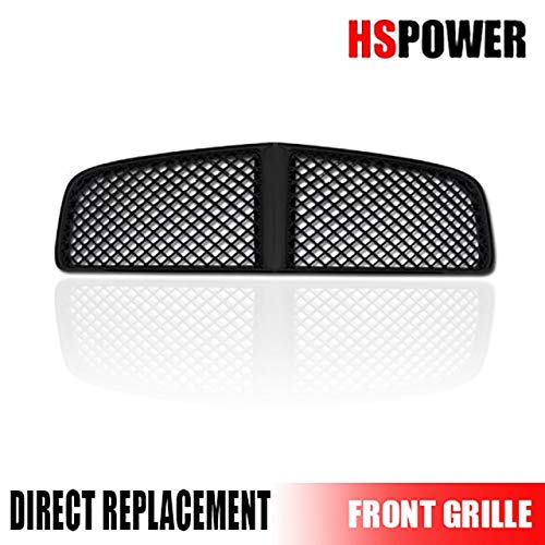 Hs Power Black Finished Sport Honeycomb Mesh Front Hood Bumper Grill Grille 2005 2010 For Dodge Charger