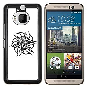 LECELL--Funda protectora / Cubierta / Piel For HTC One M9Plus M9+ M9 Plus -- Patrón Tinta celta floral Flor del Norte --
