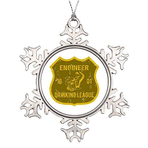 Navidad copo de nieve Adornos Decoración Árbol de Navidad Personalizada ingeniero potable Liga Make Your Own Copo de Nieve...
