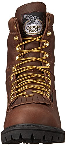 Georgia Men's G8041 Logger M Work Boot, Tumbled Chocolate, 14 W US by Georgia (Image #4)