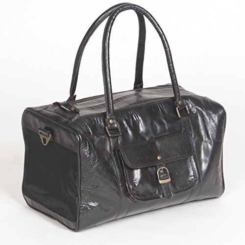Pet Deluxe Travel Carrier – Genuine Black ()