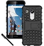 Nexus 5X Case, OEAGO LG Google Nexus 5X (2015 Release) Case Cover Accessories - Tough Rugged Dual Layer Protective Case with Kickstand For Google Nexus 5X (2015) - Black