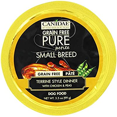 Canidae 30410110 3.5 oz Pure Petite Dog Terrine with Chicken & Peas